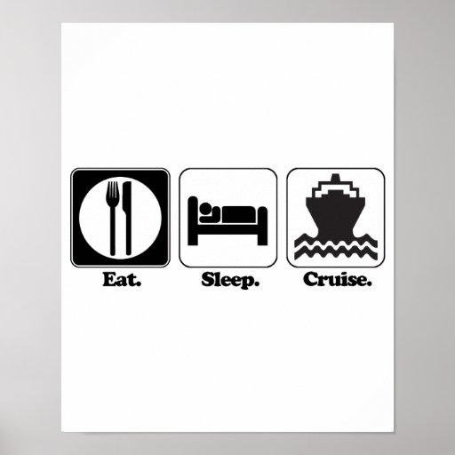 eat sleep cruise poster