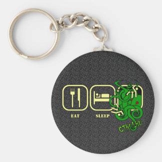 Eat - Sleep - Cthulhu Keyring Basic Round Button Keychain