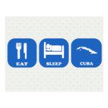 Eat Sleep Cuba Postcards