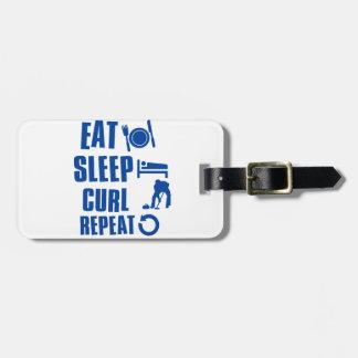 Eat sleep Curl Bag Tag