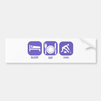 Eat Sleep Curl Car Bumper Sticker