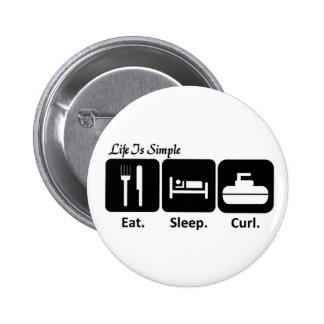 Eat, Sleep, Curl Button