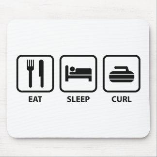 Eat Sleep Curl Mouse Pad