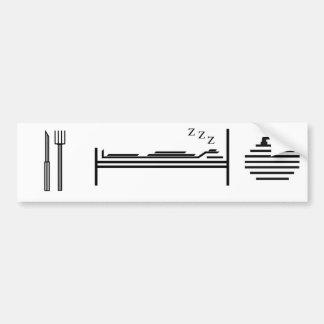 Eat - Sleep - Curling Car Bumper Sticker