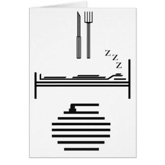 Eat - Sleep - Curling Greeting Card