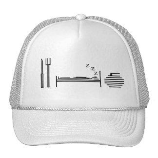 Eat - Sleep - Curling Trucker Hat