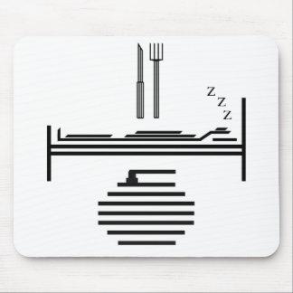 Eat - Sleep - Curling Mouse Pad