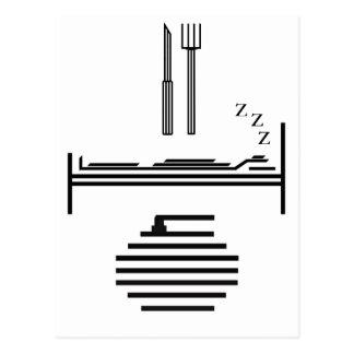 Eat - Sleep - Curling Postcard