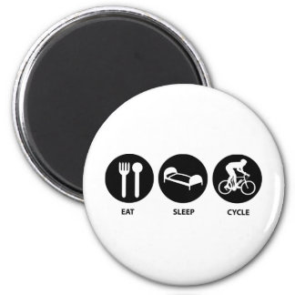 Eat Sleep Cycle 2 Inch Round Magnet