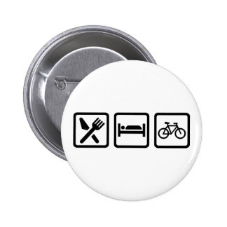 Eat Sleep Cycle Cycling 2 Inch Round Button