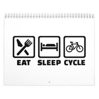 Eat Sleep Cycle Cycling Calendars