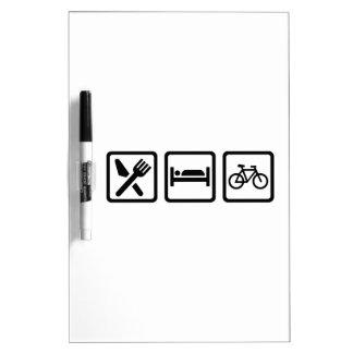 Eat Sleep Cycle Cycling Dry-Erase Board