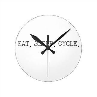 Eat Sleep Cycle Round Clock