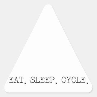 Eat Sleep Cycle Triangle Sticker