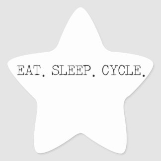 Eat Sleep Cycle Star Sticker
