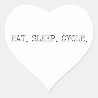 Eat Sleep Cycle Heart Sticker