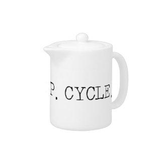 Eat Sleep Cycle Teapot