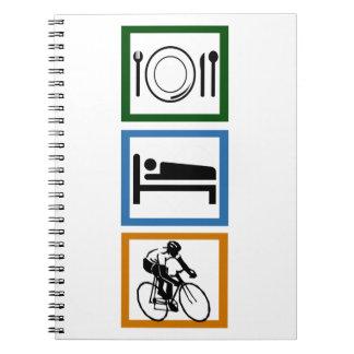 Eat Sleep Cycling Notebook