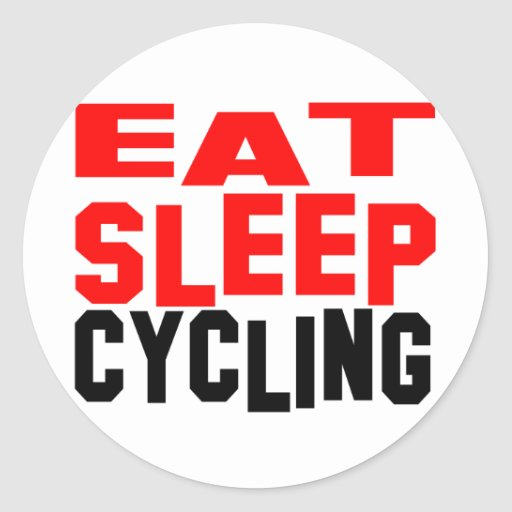 Eat Sleep Cycling Round Stickers