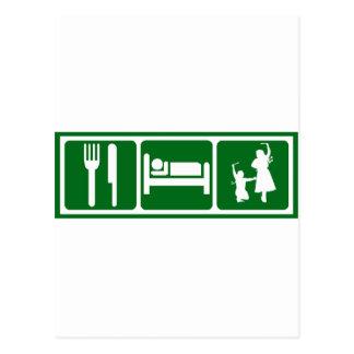 Eat Sleep Dabkeh Postcard