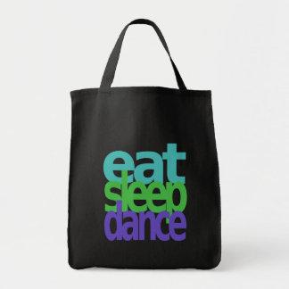 eat sleep dance canvas bags