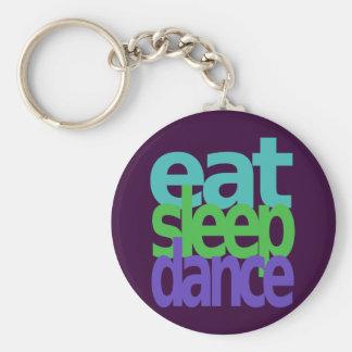 eat sleep dance basic round button keychain