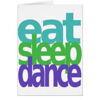 eat sleep dance card