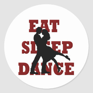 Eat, Sleep, Dance Classic Round Sticker