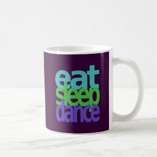 eat sleep dance coffee mug