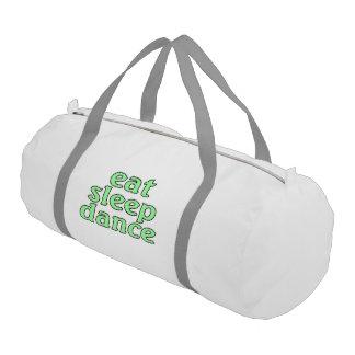 eat sleep dance duffle bag