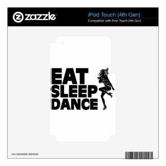Eat Sleep Dance iPod Touch 4G Skins