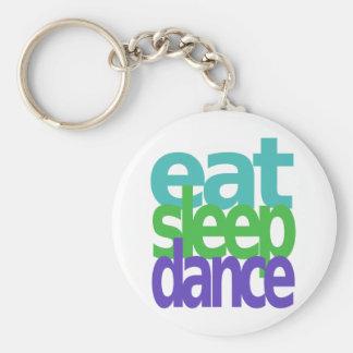 eat sleep dance key chain