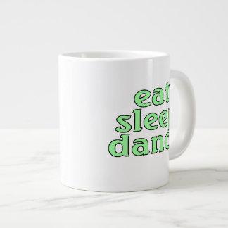 eat sleep dance large coffee mug