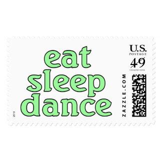 eat sleep dance postage