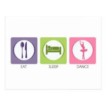 Eat Sleep Dance! Postcard