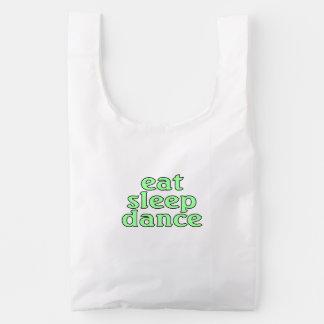 eat sleep dance reusable bag