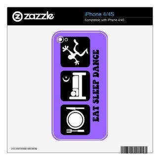 eat sleep dance skins for the iPhone 4