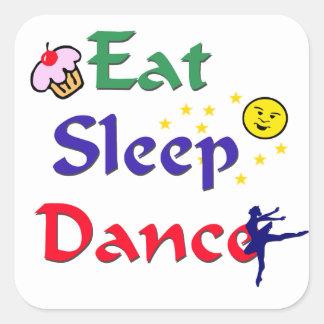 Eat Sleep Dance Square Sticker