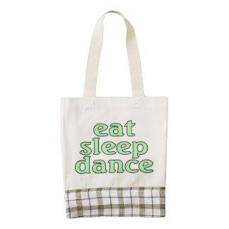 eat sleep dance zazzle HEART tote bag