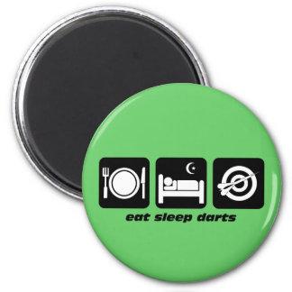 Eat sleep darts 2 inch round magnet