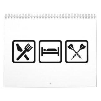 Eat Sleep Darts Calendar