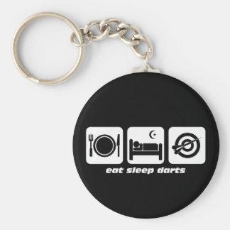 Eat sleep darts basic round button keychain