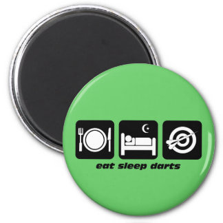 Eat sleep darts magnet