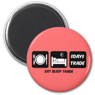 eat sleep day trader refrigerator magnets