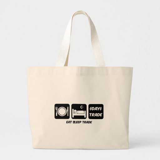 eat sleep day trader tote bags