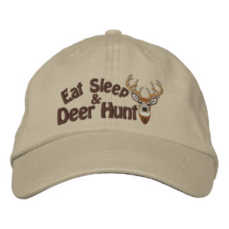 Eat Sleep Deer Hunt White Tail Embroidery Embroidered Baseball Cap