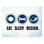 Eat Sleep Design Post Card