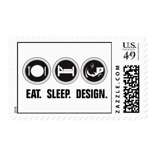 Eat Sleep Design Stamp