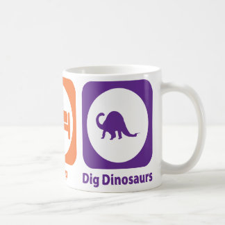 Eat Sleep Dig Dinosaurs Coffee Mug