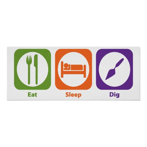 Eat Sleep Dig Posters